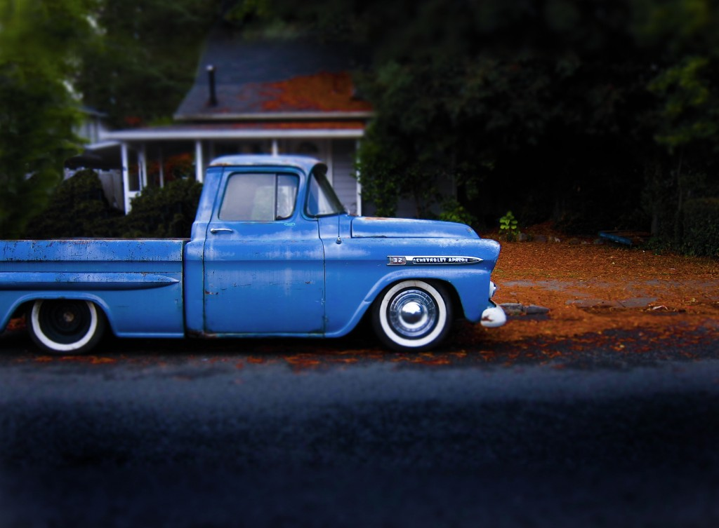 Chevy Apache Truck Blue Travel Photography