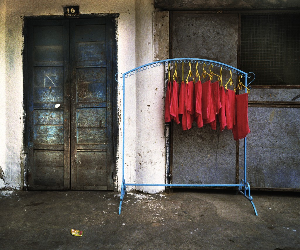 Photography - Cloths hanging outside wordshop